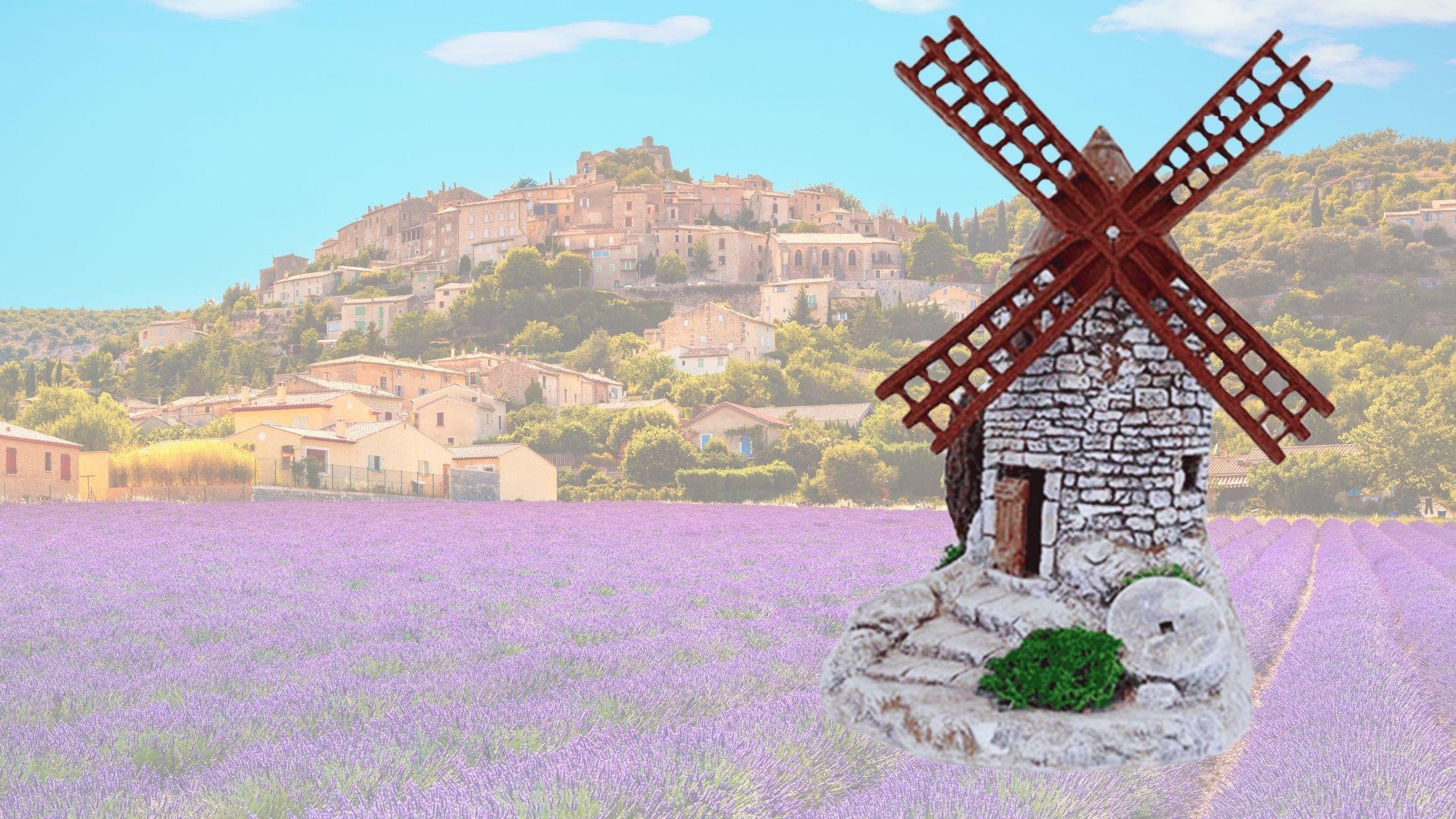 Crèche de provence décors moulin