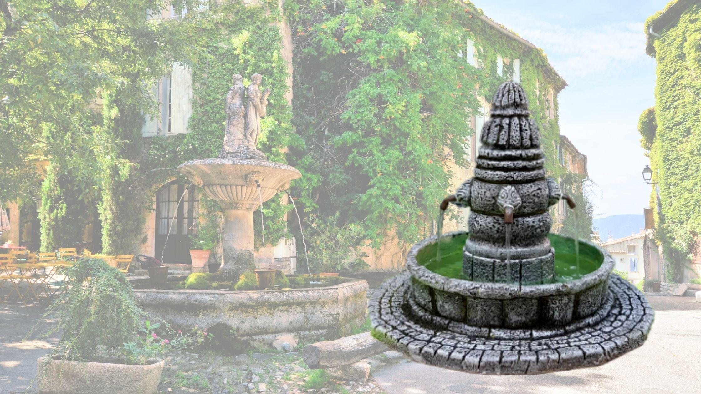 Fontaine décors de crèche